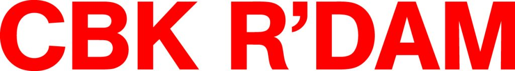 Bright red logo, by CBK Rotterdam